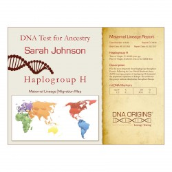 DNA Origins Maternal Lineage Sample Certificate