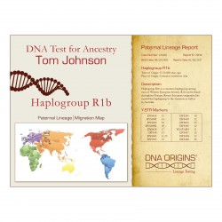 DNA Origins Paternal Lineage Sample Certificate