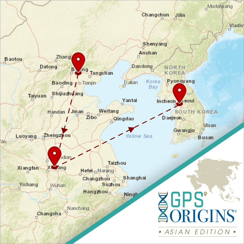 <b>GPS Origins®</b> Ancestry Test | Asian Edition