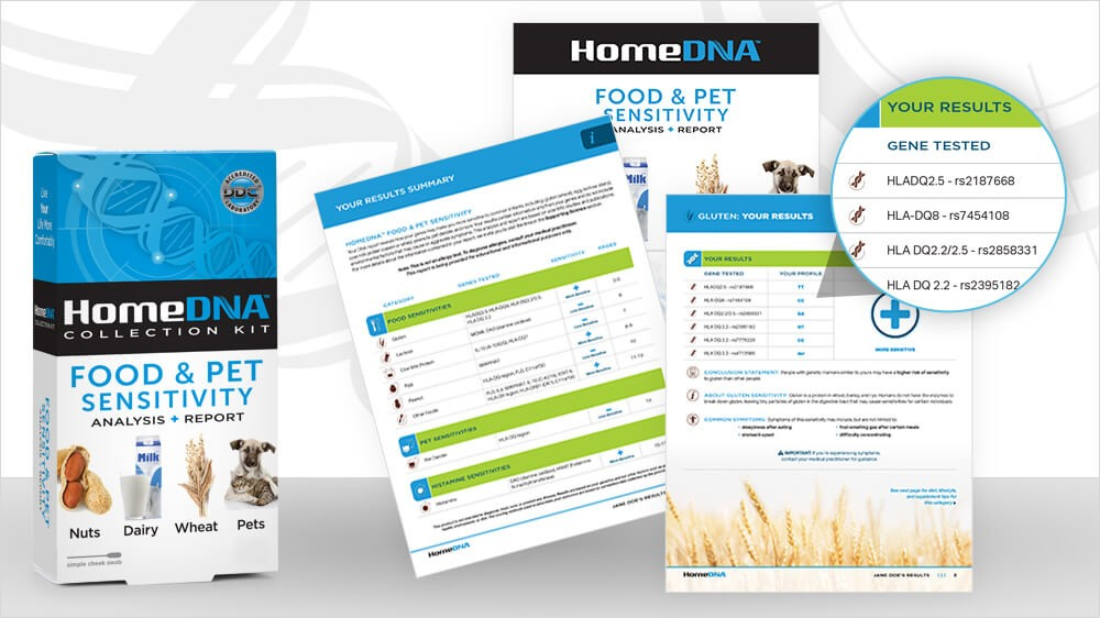 Introducing: HomeDNA Food & Pet Sensitivity DNA Test